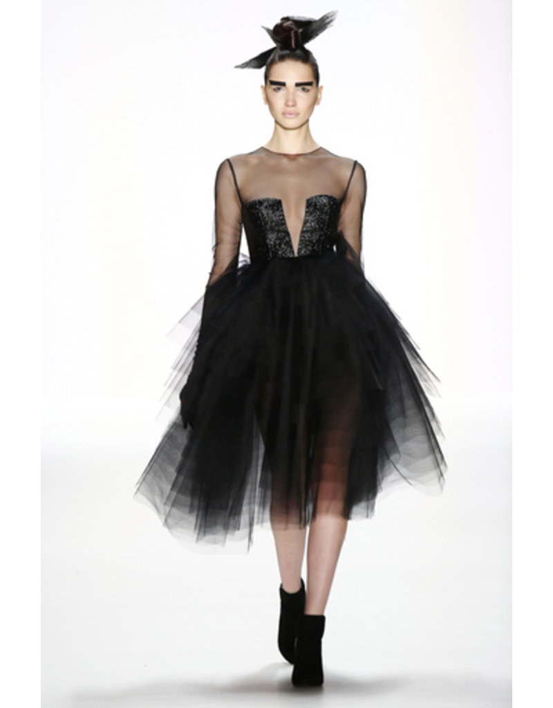 Irene Luft Tulle Short Dress