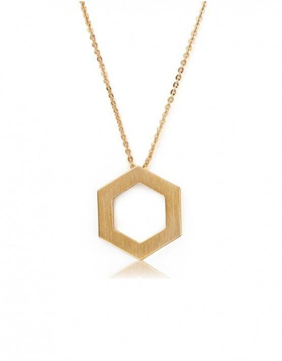Kaytie Wu Kaytie Wu Hexagon Brushed Pendant