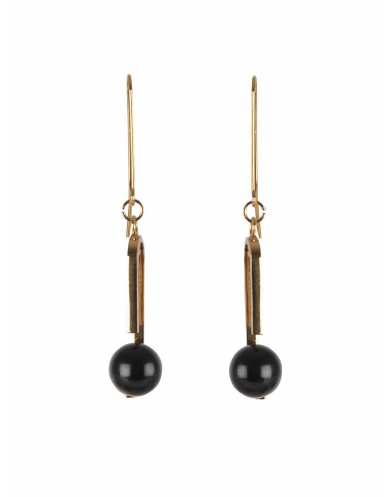 Intropia Intropia Gold Black Earring