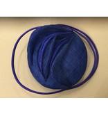 Fiona Mangan Fiona Mangan Blue sinamay hat with swirl detail