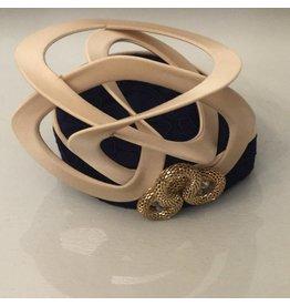 Fiona Mangan Fiona Mangan Navy Lace gold swirl