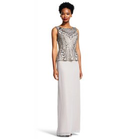 Adrianna Papel Adrianna Papell Beaded Peplum Dress