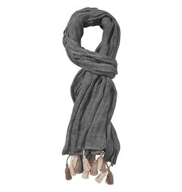 Gustav Linen Scarf with Fringes by Gustav