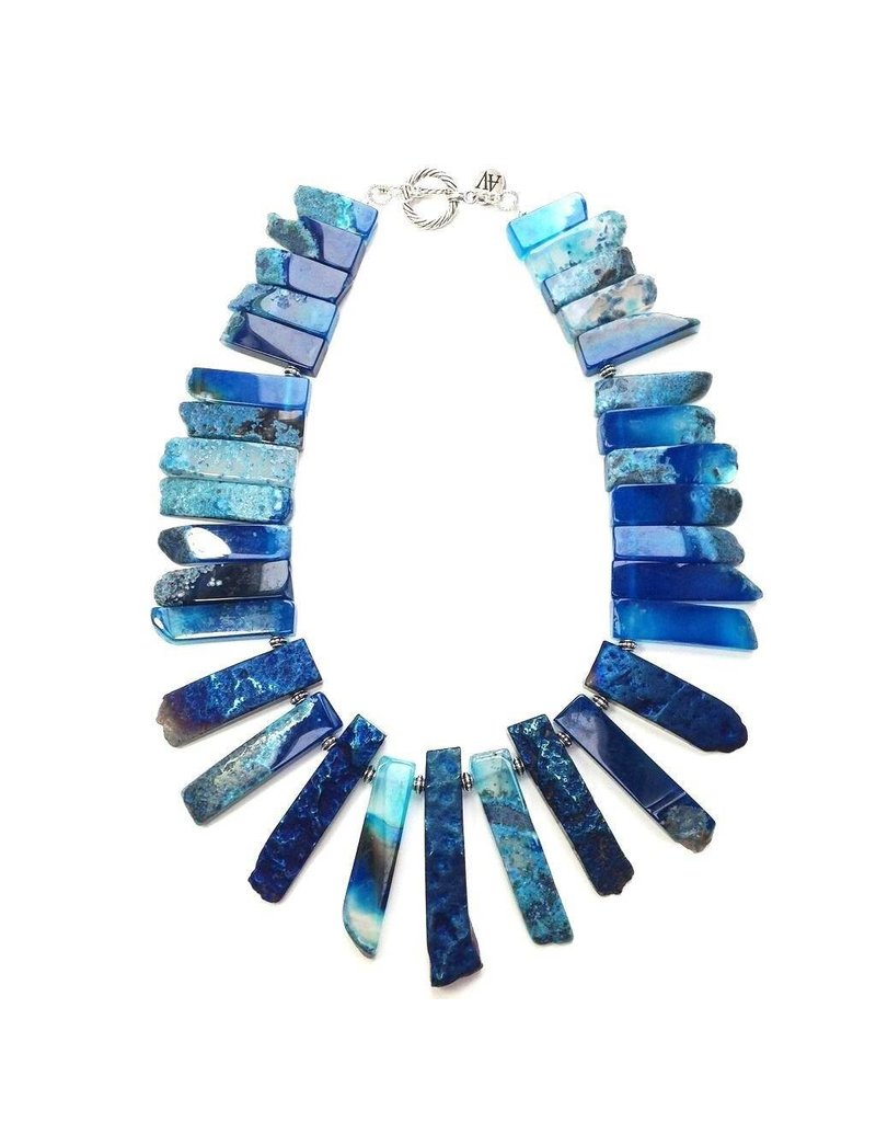 Aria V Jewellery Arthemis Aqua Neck Piece by Aria-V