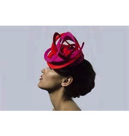 Edel Ramberg Millinery Edel Ramberg Pink and red swirl hat