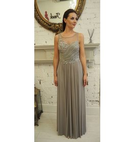 Frock N Fabulous Grey Beaded Dress