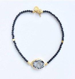 Aria V Jewellery Aria V Druze Braclet/Choker Black Agate & Gold