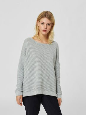 Selected Femme Laua oversize wide neck jumper