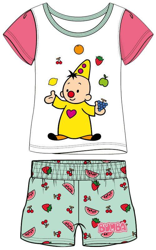 Bumba - Pyjama d'été motifs fruits - Bleu/blanc