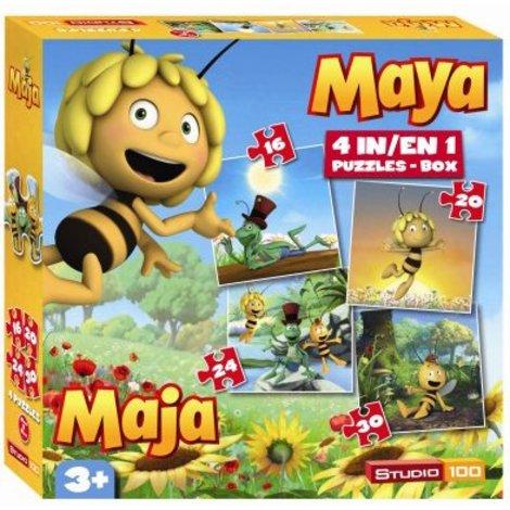 Maya de bij 4 in 1 puzzel