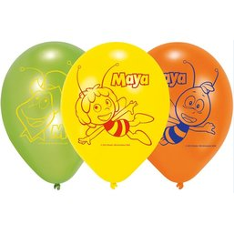 Maya de Bij ballonnen