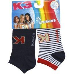 K3 Sokken 2-pack streep