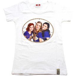 T-shirt K3 wit/goud