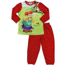 Kabouter Plop Pyjama rood/wit