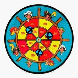 Piet Piraat dartbord klittenband