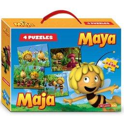 Maya de Bij Puzzel koffer 4x50 stukjes