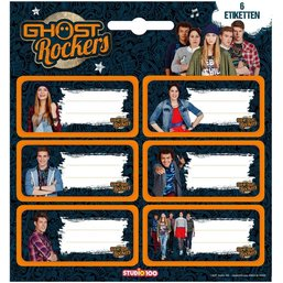 Etiketten Ghost Rockers: 6 stuks
