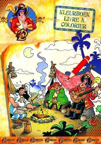 Kleurboek Piet Piraat: kompas A4
