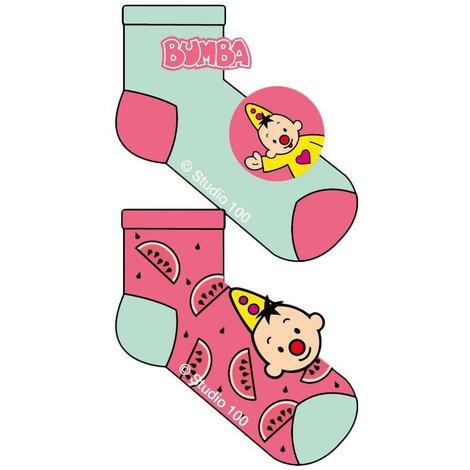 Bumba Sokken 2-pack roze/mint