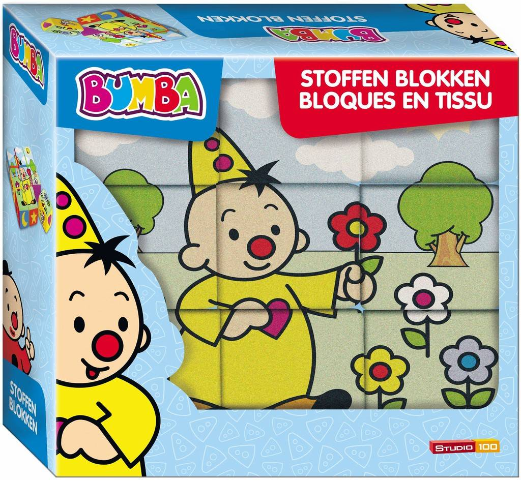 Bumba Stoffen Blokken - 9 stuks