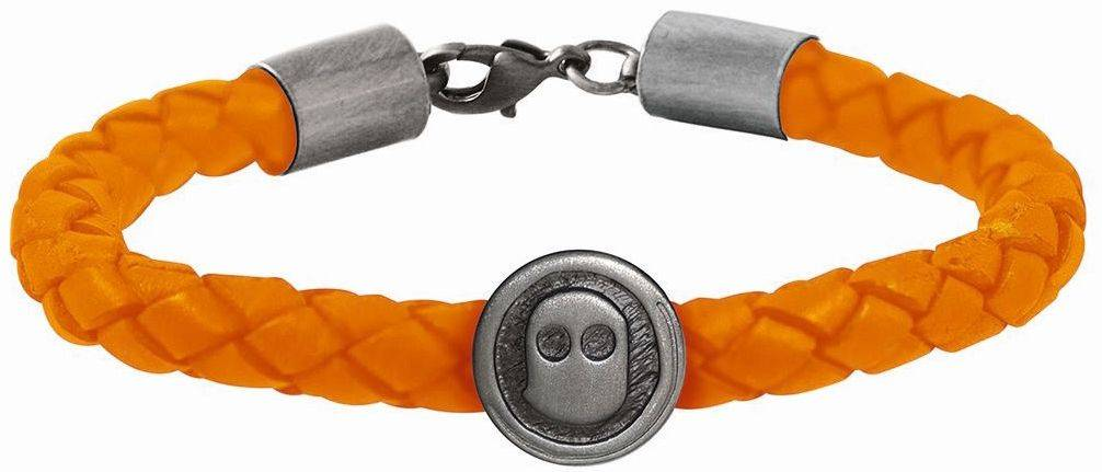 Armband Ghost Rockers gevlochten oranje