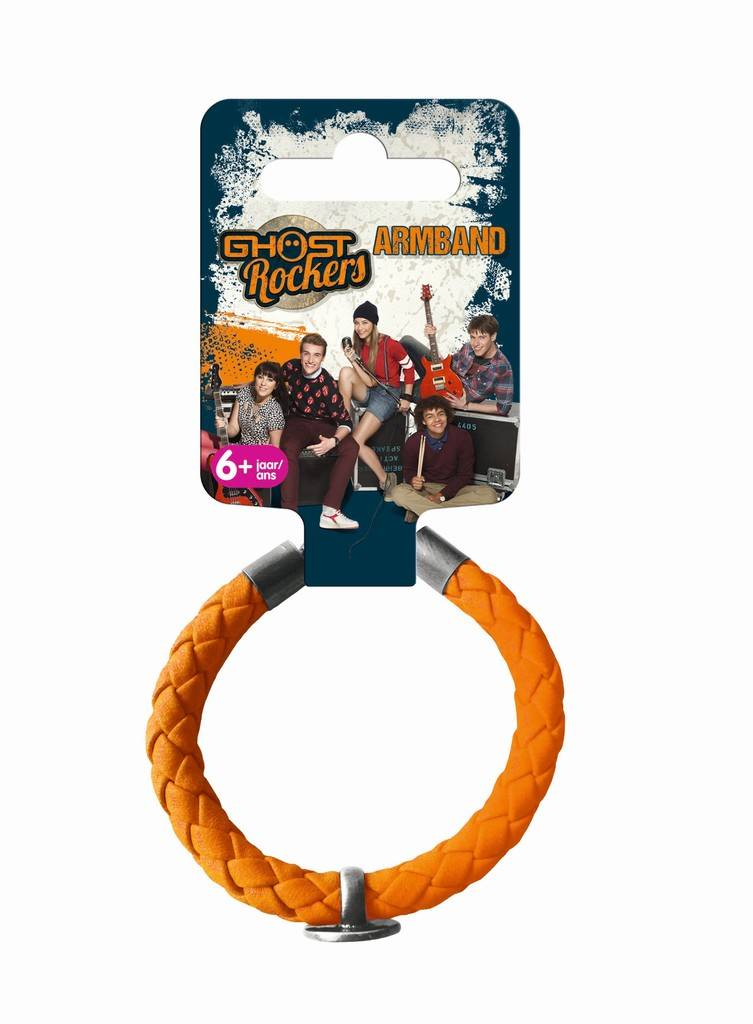 Armband gevlochten oranje