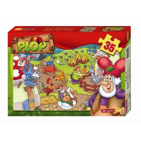Puzzle animaux Plop 35 pièces