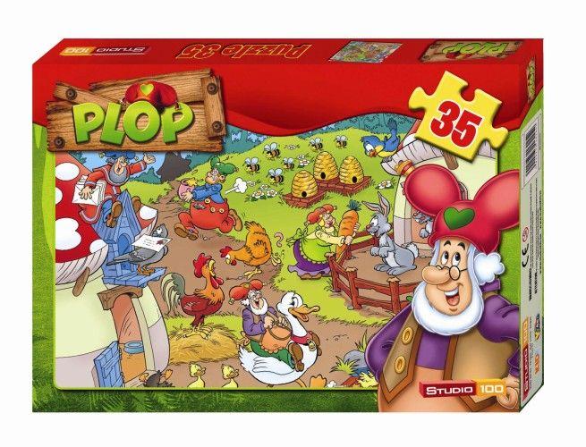 Kabouter Plop puzzel dieren 35 stukjes