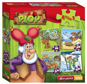 Kabouter Plop 4 in 1 puzzel