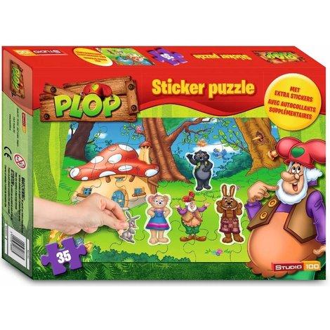 Kabouter Plop Puzzel met stickers - 35 stukjes