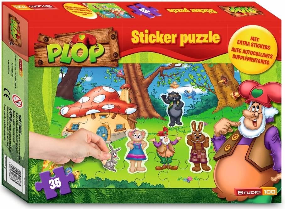 Puzzle Plop 35 pièces et stickers