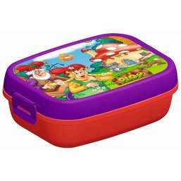 Kabouter Plop Lunchbox paars/rood
