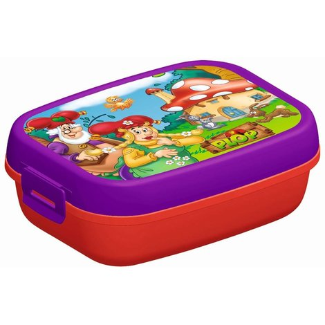 Kabouter Plop Lunchbox paars-rood