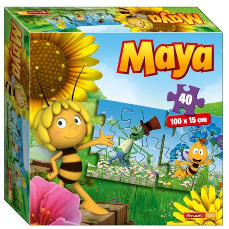 Puzzle Maya l'abeille - Train, 40 pièces