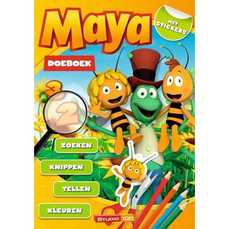 Maya de Bij Doeboek A4 bloemen