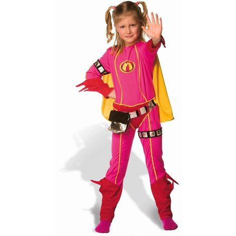 Studio 100 Mega Mindy Costume And Cape (6 - 8 Years)
