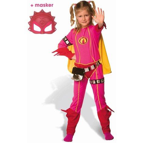 Mega Mindy Verkleedpak maat 3-5 jaar + gratis masker