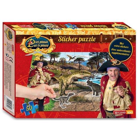 Pat le Pirate puzzle autocollant dinosaures