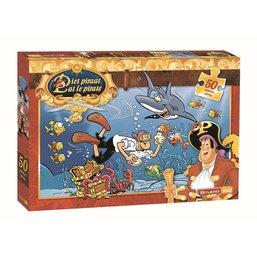 Puzzel Piet Piraat haai 50 stukjes