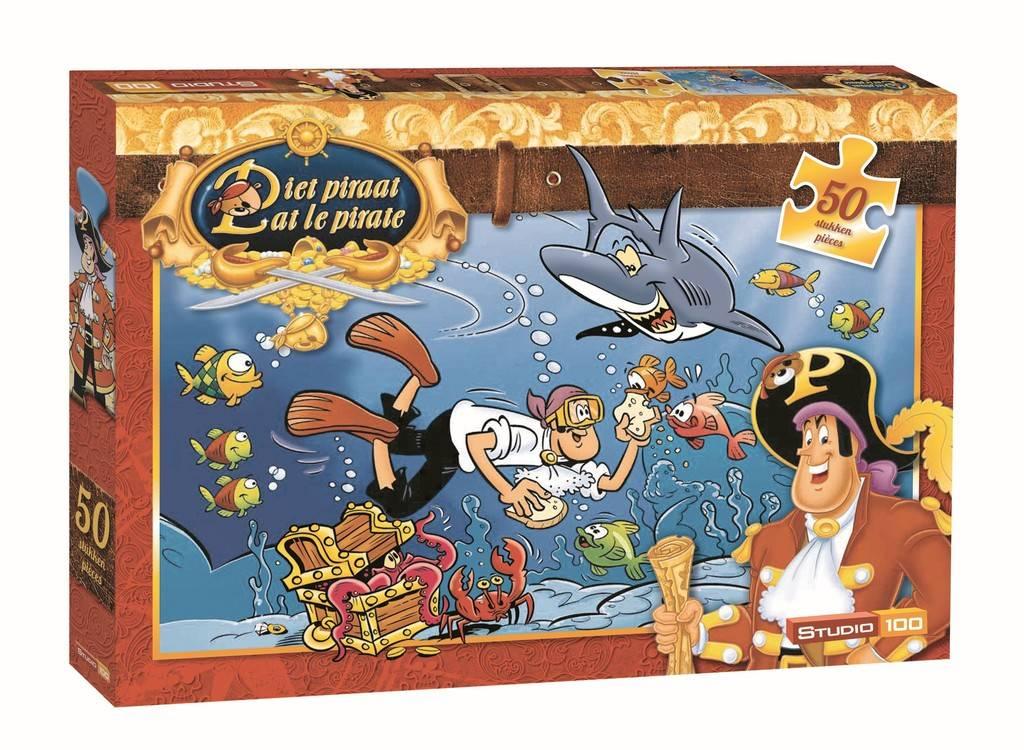 Piet Piraat Puzzel - Haai 50 stukjes