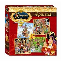 Puzzel Piet Piraat 4 in 1 4x49 stukjes