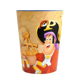 Beker frosted Piet Piraat vlaggen
