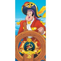 Serviette de plage Pat le Pirate 75x110 cm