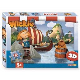 Puzzle 3D Vic le Viking - 75 pièces
