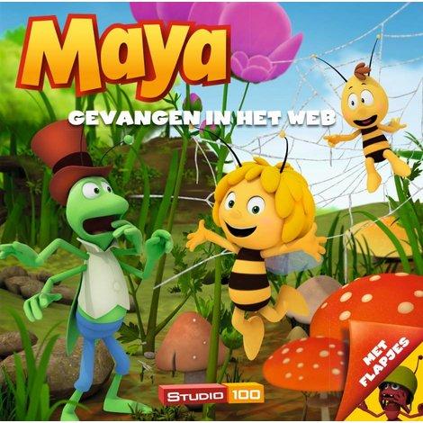 Maya de Bij Boek Gevangen in het web