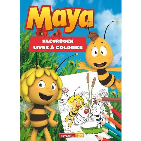 Maya de Bij Kleurboek - gras