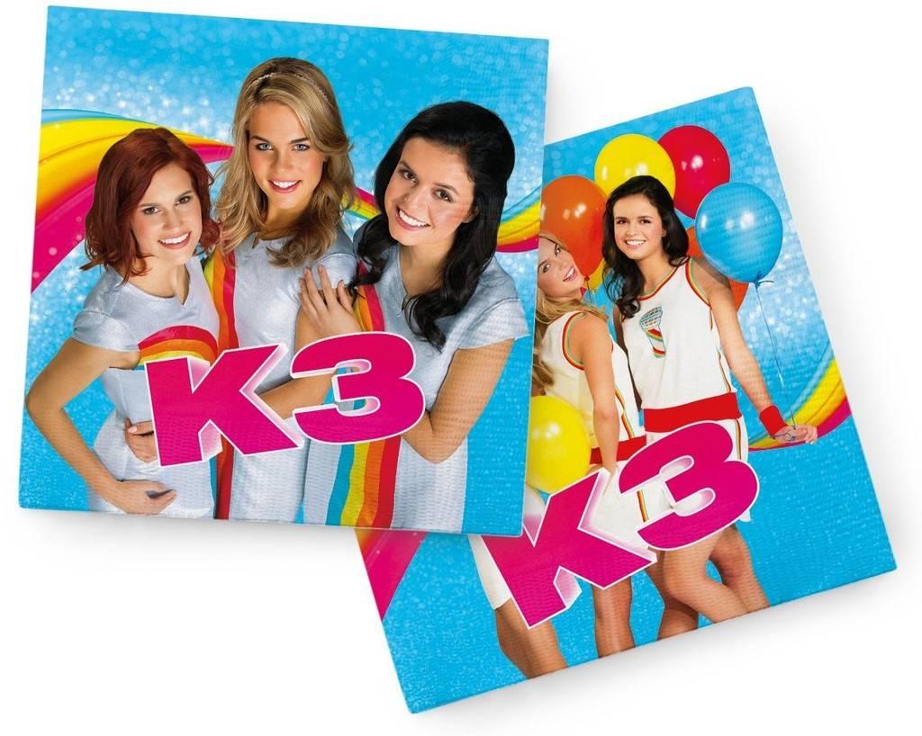 K3 Serviettes - 20 pièces