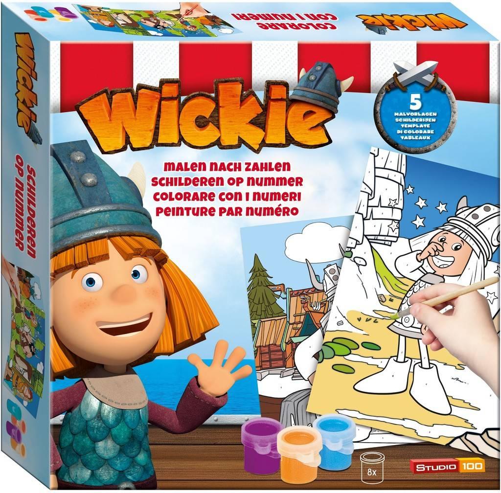 Schilderen op nummer Wickie