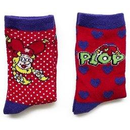 Sokken Plop: 2-pack rood