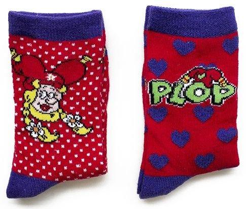 Lot de 2 paires de chaussettes rouges Plop